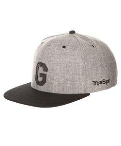 Truespin | Бейсболка С Прямым Козырьком Abc Snapback Dark Grey/Black Leather-G