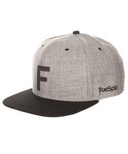 Truespin | Бейсболка С Прямым Козырьком Abc Snapback Dark Grey/Black Leather-F