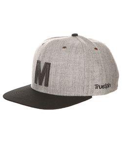 Truespin | Бейсболка С Прямым Козырьком Abc Snapback Dark Grey/Black Leather-M