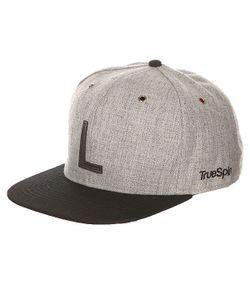 Truespin | Бейсболка С Прямым Козырьком Abc Snapback Dark Grey/Black Leather-L