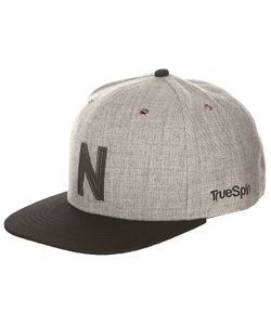 Truespin | Бейсболка С Прямым Козырьком Abc Snapback Dark Grey/Black Leather-N