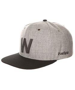 Truespin | Бейсболка С Прямым Козырьком Abc Snapback Dark Grey/Black Leather-W