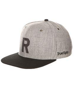 Truespin | Бейсболка С Прямым Козырьком Abc Snapback Dark Grey/Black Leather-R