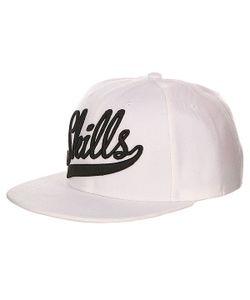 Skills | Бейсболка С Прямым Козырьком 01 White