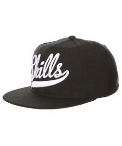Skills | Бейсболка С Прямым Козырьком 01 Black/White