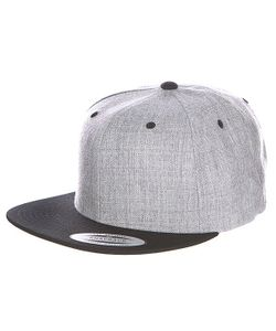 Yupoong | Бейсболка Classic Snapback 2-Tone Heather Grey/Black