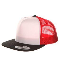 Yupoong | Бейсболка С Сеткой 6005fw Black/White/Red