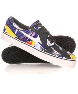 Nike | Кеды Кроссовки Низкие Zoom Stefan Janoski Cnvs Prm Black/White
