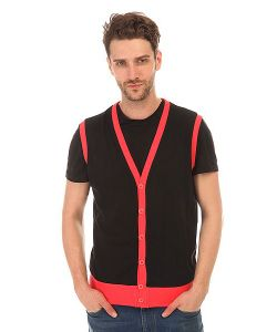 Urban Classics | Жилетка Jersey Button Vest Black-Infrared