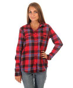 Roxy   Рубашка В Клетку Женская Campay J Wvtp Moon Plaid Combo