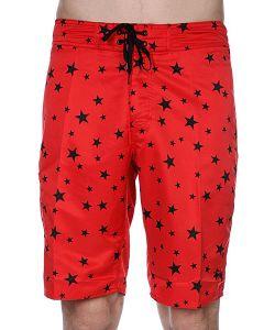 Stussy | Пляжные Мужские Шорты Stars Trunk Long Red