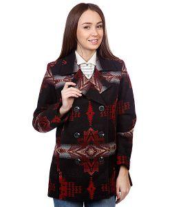 Pendleton | Пальто Женское Dallas D.B. Coat Black Evening Star Jacquard