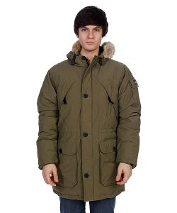 Penfield | Куртка Парка Hoosac Parka Real Fur Olive Drab
