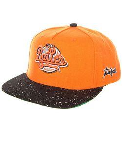 Truespin | Бейсболка С Прямым Козырьком Splatter Baller Orange