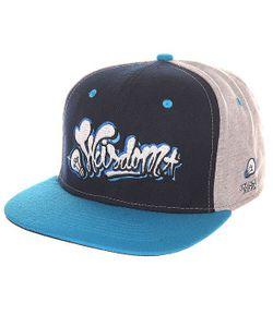 Truespin | Бейсболка С Прямым Козырьком Wisdom Strapback Black/Blue