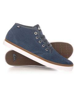 Quiksilver   Кеды Кроссовки Высокие Shorebrksuedmid Shoe Blue/Blue/White