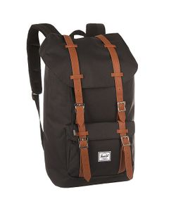 Herschel Supply Co. | Рюкзак Туристический Herschel Little America Black/Tan Synthetic Leather