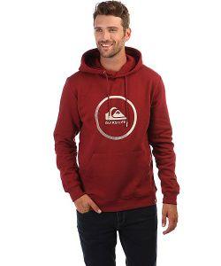 Quiksilver | Толстовка Кенгуру Big Logo Hood Pomegranate