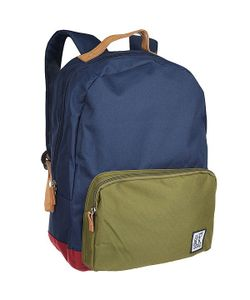 The Pack Society | Рюкзак Городской D-Pack Backpack Navy/Olive/Burgundy-25
