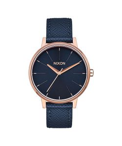 Nixon | Кварцевые Часы Kensington Leather Navy/