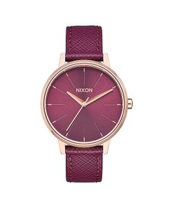 Nixon | Кварцевые Часы Kensington Leather Bordeaux