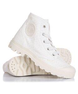 Palladium | Ботинки Высокие Pampa Hi Marshmallow/Cubic Print