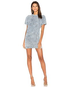 Stateside | Bleached Indigo Stripe T Shirt Dress