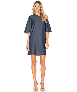 Tibi | One Shoulder Bell Sleeve Dress