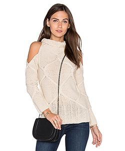 ROI | Cold Shoulder Cable Sweater