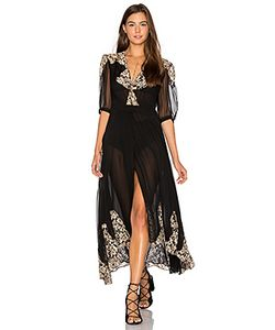 Nightcap | By Carisa Rene Antique Lace Wrap Gown