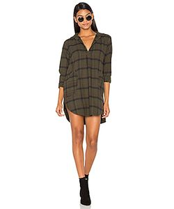 CP SHADES | Teton Flannel Button Up Dress