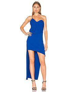 Halston Heritage | One Shoulder Drape Dress