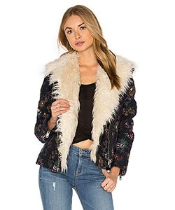 Free People | Jaquard Wool Faux Fur Jacket