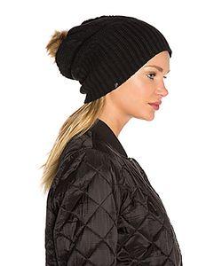Plush   Fleece-Lined Faux Fur Pom Pom Hat