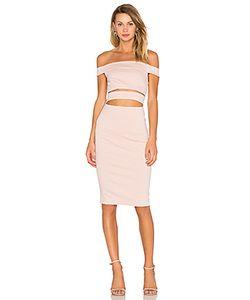 Nicholas | Ponti Off Shoulder Strap Dress