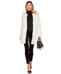 Adrienne Landau | Knit Rabbit Fur Coat