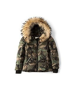 SAM. | Camo Blake Jacket With Asiatic Raccoon Fur