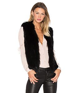 Arielle | Short Collared Rabbit Fur Vest