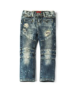 Haus of JR | Clayton Distressed Biker Jean