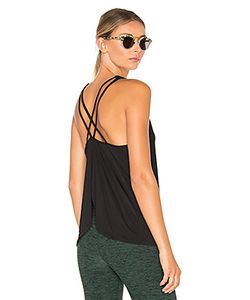 Beyond Yoga | Sleek Stripe Waterfall Swing Tank