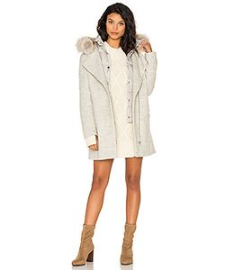 Soia & Kyo | Rafaella Coyote Fur Trim Coat