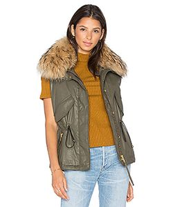 SAM. | Dakota Vest With Asiatic Raccoon Fur