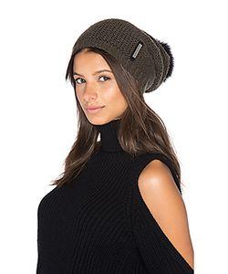 Soia & Kyo | Caddie Hat With Fox Fur Pompom