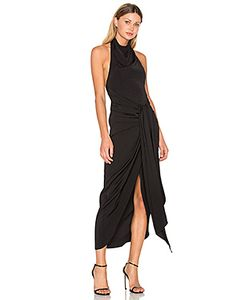 Shona Joy | Voltaire Backless Draped Midi Dress