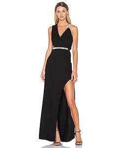 Halston Heritage | V Neck Multi Chain Gown