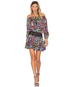 aijek | Ethel Printed Off Shoulder Mini Dress