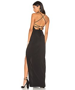 Donna Mizani | Cross Back Square Neck Maxi Dress