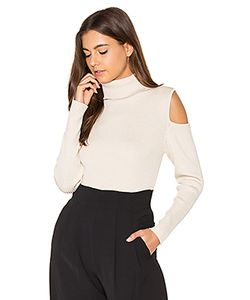 525 America | Cut Out Ribbed Turtleneck Sweater