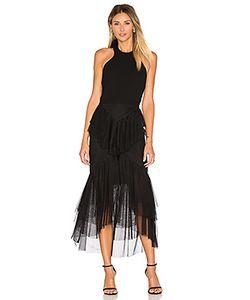 Rebecca Vallance | Orlando Bow Back Ruffle Dress