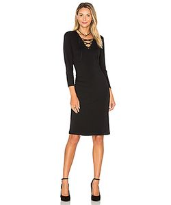 1. STATE | Long Sleeve Lace Up Bodycon Dress